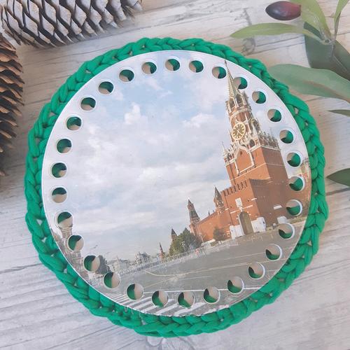Круглое донышко с печатью Кремль 15см фото 1