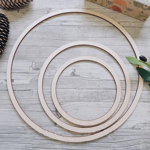 Заготовка для ловца снов 3 кольца фото 1