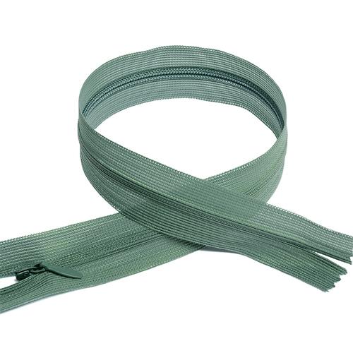 Молния пласт потайная №3 50 см цвет серо-зеленый фото 1
