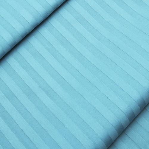 Страйп сатин полоса 1х1 см 220 см 135 гр/м2 цвет 436 бирюзовый фото 1