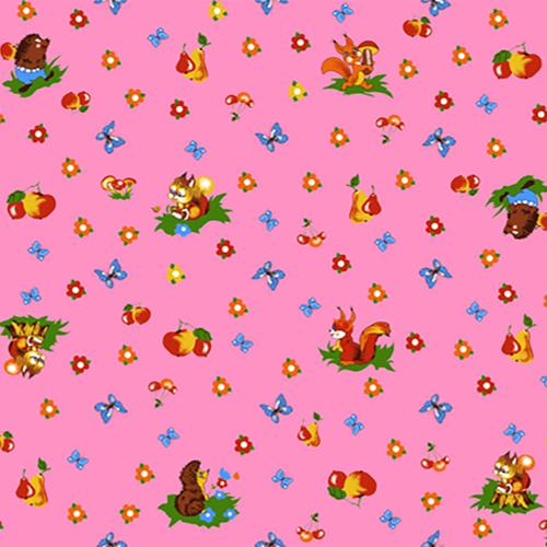 Бязь 120 гр/м2 детская 150 см 1231/2 цвет розовый фото 1