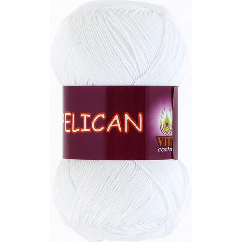 Pelican 3951 100% хлопок двойной мерсеризации 50гр 330м (Индия) цвет белый фото 1