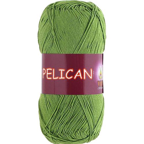 Pelican 3995 100% хлопок двойной мерсеризации 50гр 330м (Индия) цвет молод.зелень фото 1