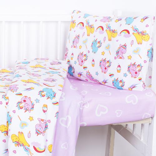 Постельное белье в детскую кроватку из поплина 1836+395/2 с простыней на резинке фото 2