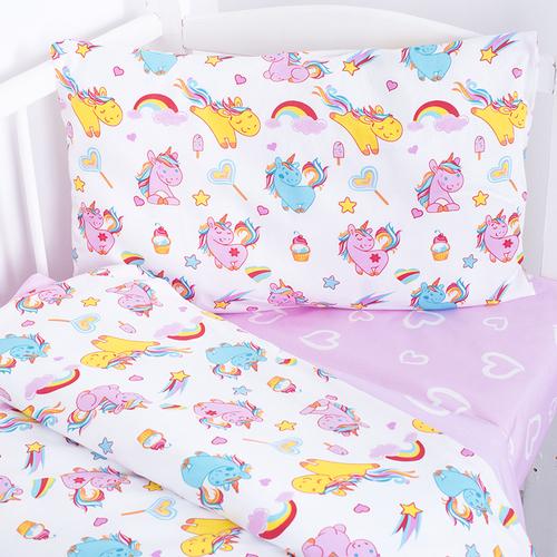 Постельное белье в детскую кроватку из поплина 1836+395/2 с простыней на резинке фото 4