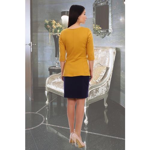 Блуза Валенсия 10359 горчица р 54 фото 2