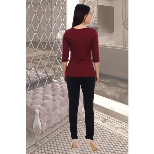 Блуза Валенсия 10359 бордо р 50 фото 3