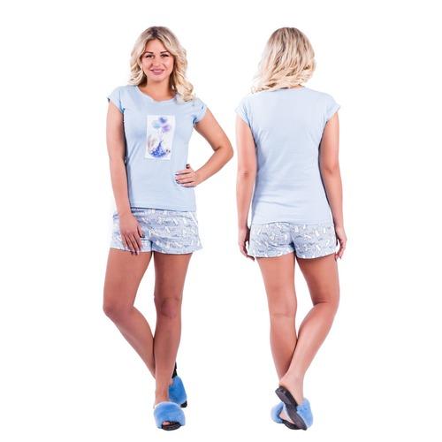 Пижама Д 82 голубой р 48 фото 1