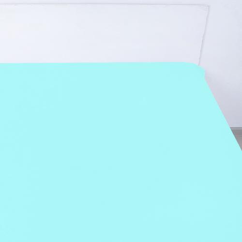 Простынь на резинке поплин цвет тиффани 160/200/20 см фото 1