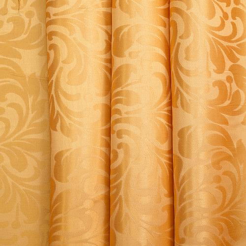 Портьерная ткань 150 см на отрез 2С391 цвет 12 оранжевый фото 1