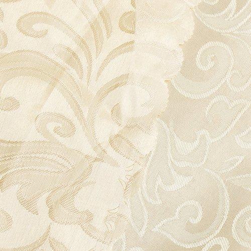 Портьерная ткань 150 см на отрез 100/2С цвет 72 бежевый фото 2