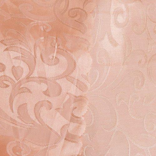 Портьерная ткань 150 см на отрез 100/2С цвет 29 персик фото 2