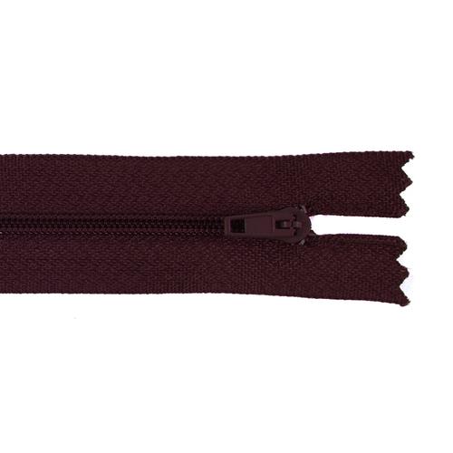 Молния пласт юбочная №3 16 см цвет 179 бордовый фото 1