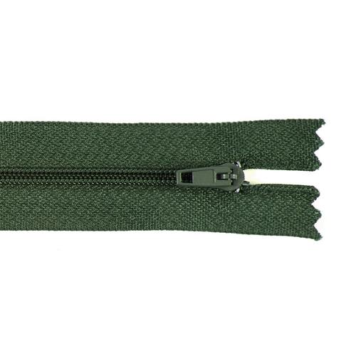 Молния пласт юбочная №3 18 см цвет 266 зеленый фото 1