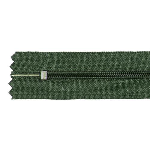 Молния пласт юбочная №3 18 см цвет 266 зеленый фото 2
