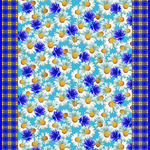 Ткань на отрез вафельное полотно набивное 150 см Полянка 10377/1 фото 1