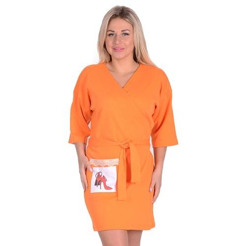 Халат ЖХ 006 оранжевый р 48 фото 1