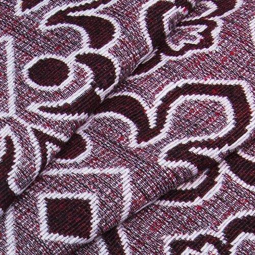 Ткань на отрез гобелен 150 см A80 цвет красный фото 3