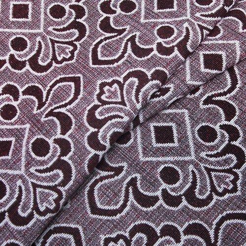 Ткань на отрез гобелен 150 см A80 цвет красный фото 2
