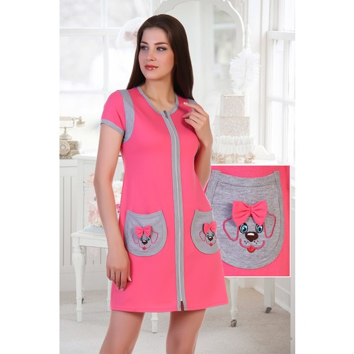 Халат Ингрид 5389 цвет розовый р 48 фото 1