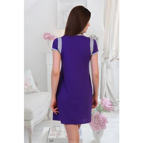 Халат Ингрид 5389 цвет фиолетовый р 50 фото 2
