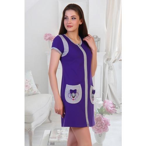 Халат Ингрид 5389 цвет фиолетовый р 52 фото 1