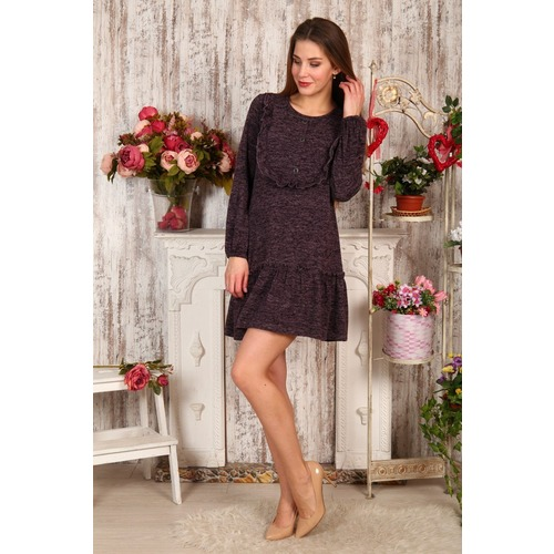 Платье Аманда пуговицы баклажан Д480 р 56 фото 1