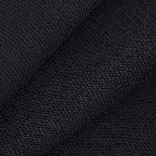 Ткань на отрез кашкорсе 3-х нитка с лайкрой цвет черный фото 1