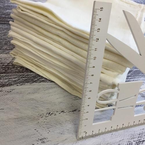 Весовой лоскут Полулен отбеленный 2 0,4 / 0,7 м 1 кг фото 2