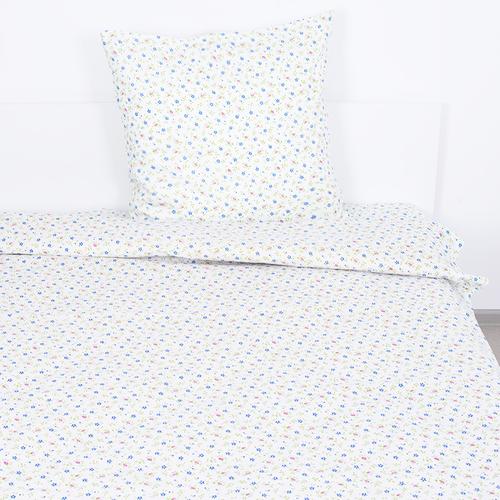 Постельное белье бязь ГОСТ 361/2 Полянка цвет синий 1.5 сп фото 1