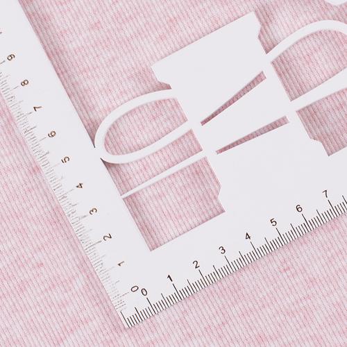 Ткань на отрез кашкорсе с лайкрой Melange цвет розовый фото 2