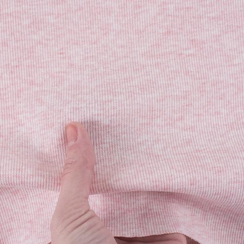 Ткань на отрез кашкорсе с лайкрой Melange цвет розовый фото 5