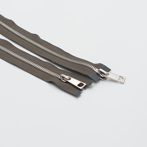 Молния металл №5СТ никель два замка 80см D034 серый фото 1