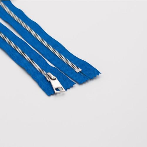 Молния металл №5СТ никель разъем 60см D115 ярко синий фото 1