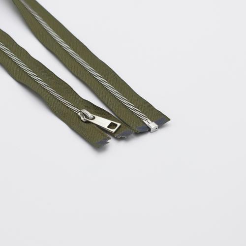 Молния металл №5СТ никель разьем 65см D565 хаки фото 1