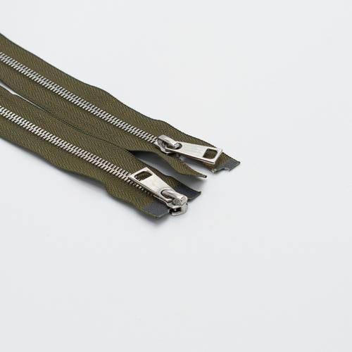Молния металл №5СТ никель два замка 95см D565 хаки фото 1