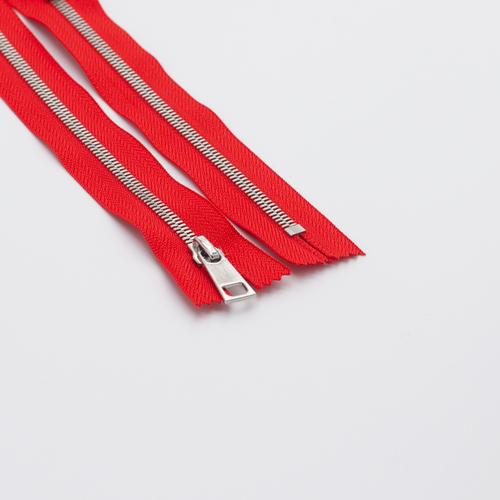 Молния металл №5СТ никель н/р 18см D820 красный фото 1