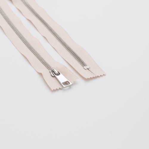 Молния металл №5СТ никель н/р 18см D123 бежевый фото 1