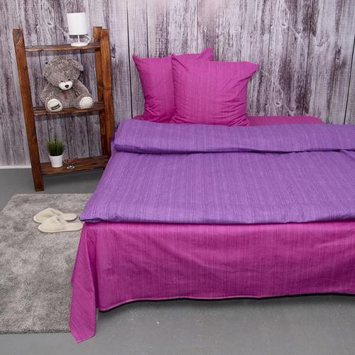 Постельное белье из перкаля Эко Фиолетовый закат 2-х сп с евро простыней фото 3