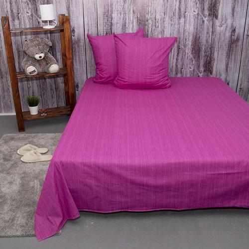 Постельное белье из перкаля Эко Фиолетовый закат 2-х сп с евро простыней фото 4