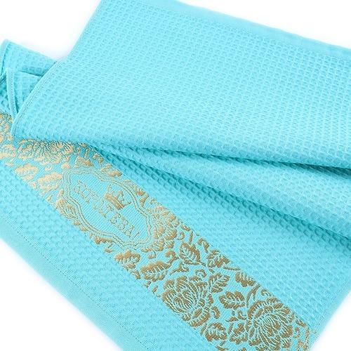 Полотенце вафельное Королева цвет мятный 50/70 см фото 1