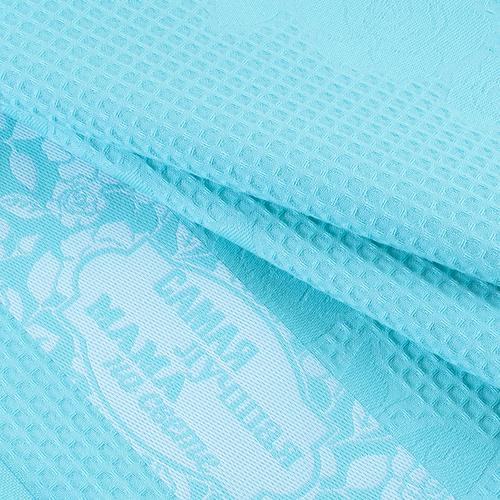 Полотенце вафельное Самая лучшая мама на свете цвет мятный 50/70 см фото 3