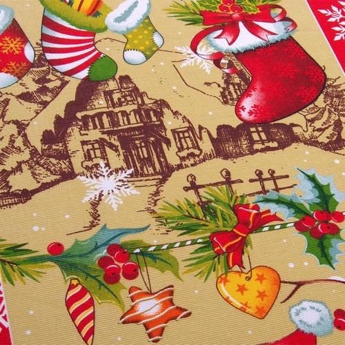 Ткань на отрез рогожка 150 см 204801Р Новогодняя семейка 1 фото 3