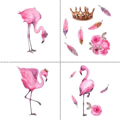 Ткань на отрез перкаль детский 150/37.5 см 06 Фламинго (4 квадрата) фото 1