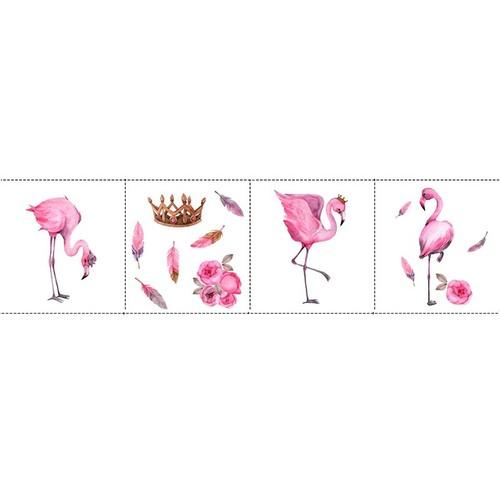 Ткань на отрез перкаль детский 150/37.5 см 06 Фламинго (4 квадрата) фото 2