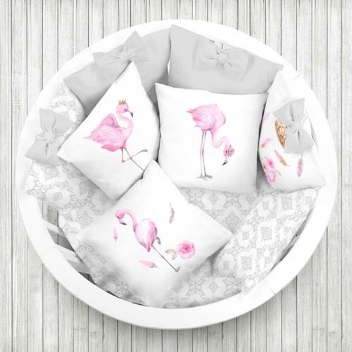 Ткань на отрез перкаль детский 150/37.5 см 06 Фламинго (4 квадрата) фото 3