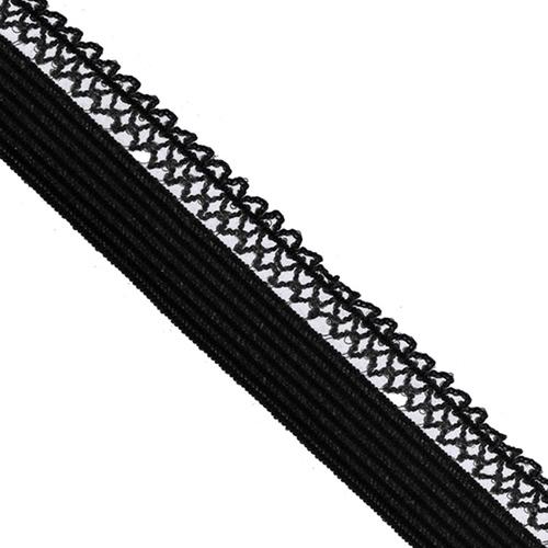 Резинка TBY бельевая ультрамягкая 12 мм RB06 цвет F322 черный 1 метр фото 1