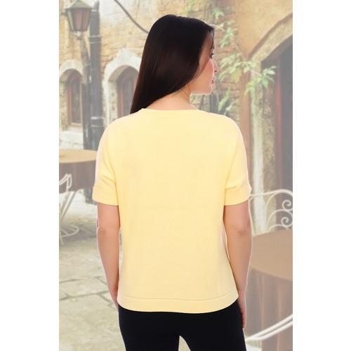 Джемпер 6568 цвет желтый р 48-50 фото 2