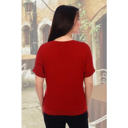 Джемпер 6568 цвет красный р 48-50 фото 2