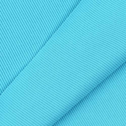 Ткань на отрез кашкорсе с лайкрой 1-250 цвет бирюзовый фото 2